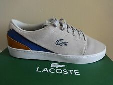Lacoste Court Legacy NWP SPM Light Grey & Blue Trainers Size UK 6.5 EUR 40