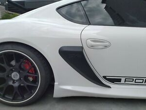 For Porsche 987 Boxster Cayman 06-12 Side Air Scoop Vents Intake Unpainted
