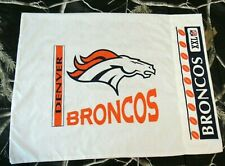 Denver Broncos Logo NFL Pillow Case Standard Pillow Sham Football White 21 x 28