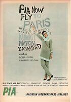 1966 Original Advertising' Vintage Pia Pakistan International Airlines Baghdad