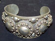 Vintage SIAM STERLING Silver ORNATE WIDE CUFF/bangle Bracelet 2.3oz