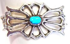 "sterling silver cuff bracelet, Navajo pot design, gold overlay, fits 7"" wrist"