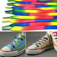Trendy 5Pairs Rainbow Athletic Shoelace Unisex Sneakers Shoe Laces String Strap