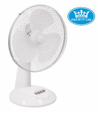 "Prem-I-Air 12"" Inch 30cm Oscillating 3 Speed Home Office Desk Desktop Fan #1522"
