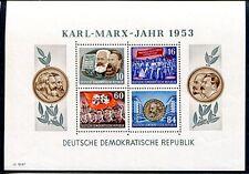 DDR 1953 BLOCK9AYII ** POSTFRISCH MARXSBLOCK 160€(J0147