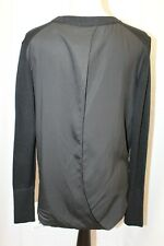 NEW Lululemon Still At Ease Pullover Black Sweater Split Back Knit Top 8 M