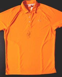 Rickie Fowler Hand Signed Orange Puma Tour Shirt  PSA/DNA