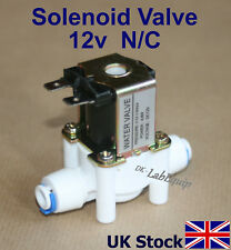 "Solenoid Valve Flow Switch  12v dc  Normally Closed N/C  1/4"" pushfit - UK Stock"