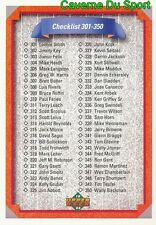 400 CHECKLIST 301-400 CL  BASEBALL CARD UPPER DECK 1992