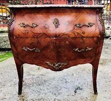 Comò intarsiato mosso stile Luigi XV Cassettiera Cassettone Antico NapoleoneIII