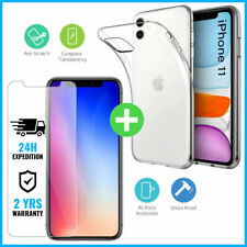 Screen Protector Tempered Glass + Transparent Gel Case iPhone 11 / Pro / Max
