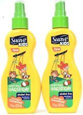 2 Bottles Suave Kids 7 Oz Swingin' Coconut Alcohol Free Light Hold Hairspray