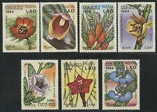 LAOS N°555/561** Fleurs sylvestres TB, 1984  Woodland flowers SC#554-560 MNH