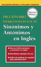 Diccionario Merriam-Webster De Sinonimos Y Antonimos En Ingles-YY 1452