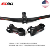 MTB Bike Handlebar 660-760mm Carbon Bar 6/17° 31.8*60-120mm Carbon+AL Stem Matt