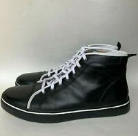 Rockport High Top Premium Leather Sneaker Shoes Black Mens Size 13 M