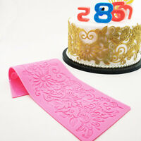 Edible Flower Rattan Lace Cake Silicone Embossing Mat Fondant Candy Imprint Mold