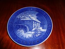Royal Copenhagen Collectors Plate 1976 VIBAEK MILL Christmas Plate