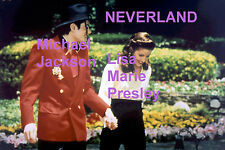 MICHAEL JACKSON LISA MARIE PRESLEY LOOKING HAPPY NEVERLAND ELVIS PHOTO CANDID