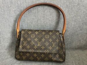 Authentic Louis Vuitton Shoulder Bag Mini Looping M51147 Browns Monogram