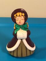 Vintage 1977 Holland Mold Christmas Female Caroler Ceramic hand painted Figurine