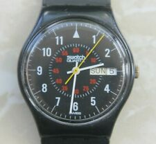 SWATCH GB705 - NICHOLSON / YEAR 1985 - VINTAGE WITH DAY DATE