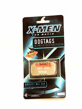 NEW X-MEN~ ROGUE ~ DOG TAGS AUTHENTIC COLLECTIBLE MARVEL 2000, NICKEL PLATED