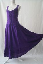 Long corset boho hippy medieval pagan gothic wicca festival dress Size 12 14 16