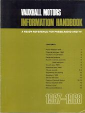 Vauxhall Information Handbook 1967-68 A ready reference for press radio and TV