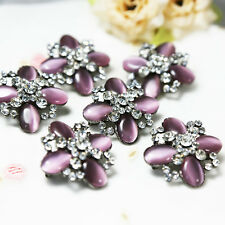 Wholesale 10x Purple Crystal Rhinestone Brooch Pins Bridal Wedding Bouquet Decor
