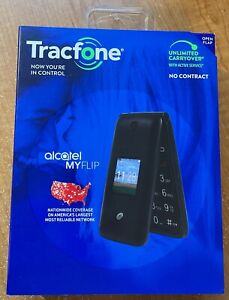 NEW Alcatel Myflip A405DL Basic Flip Phone for Tracfone Prepaid Service ONLY