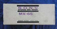 SONY MX-6S, STEREO MICROPHONE MIXER VINTAGE UNIT NEW IN BOX MINT SHAPE FREE S&H.