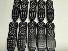 QTY LOT OF TEN (10) AT&T UVERSE BLACK REMOTE CONTROLS! EACH WORKS PERFECTLY!