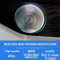 4X Chrome Door Speaker Cover for Mercedes Benz C E Class W205 W213 GLC200 15-18