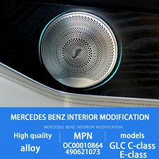 4X Chrome Door Speaker Cover for Mercedes Benz C E Class W205 W213 GLC200 15-18