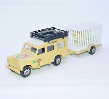 Solido 1:43 Land Rover 109 LWB Reserve Africaine + Wild Life Cage Trailer Mint!