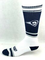 For Bare Feet Los Angeles Rams Navy White & Gray Striped Tall Crew Socks
