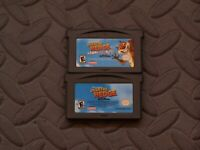 Lot of 2 Nintendo Game Boy Advance GBA Games Over the Hedge Hammy Goes Nuts +1