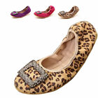 Women Dolly Comfort Glitter Ballet Flat Low Heel Loafer Foldable Party Pump Shoe