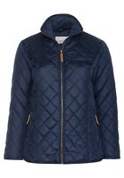 sheego Damen Stepp Jacke Blau Übergang Blue Herbst Winter Cool Jacket Warm NEU