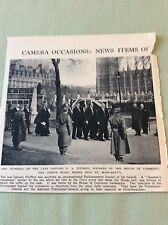 m5-1 ephemera 1943 ww2 picture funeral capt e a fitzroy house of commons