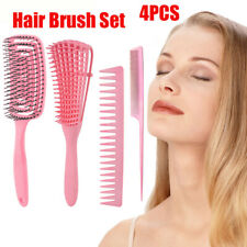 4Pcs Hair Brush Set Detangling Comb Anti-Static Scalp Massage Hair Comb Set-[
