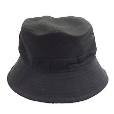HUSTLIN ALL THE TIME Flock Style Fashion Black Cotton Bucket Hat