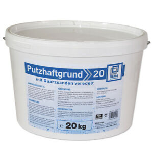 20 kg Putzgrund Putzhaftgrund Quarzsand Grundierung Voranstrich weiß, verdünnbar