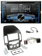 JVC MP3 USB CD 2DIN AUX Autoradio für Hyundai i30 (ab 08)