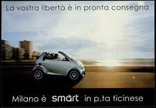 cartolina pubblicitaria PROMOCARD n.2511 SMART CENTER MILANO LODOCAR AUTOMOBILE
