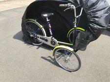 Große robuste Wetterschutzplane für Dreirad Erwachsene Farbe schwarz mit Beutel