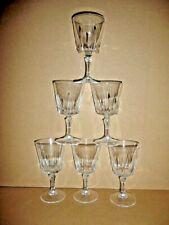6 verres a vin ROUGE 15 cl modèle VERSAILLES cristal d'arques France lot série