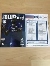 Cardiff City v Bristol City-Mint-With Teamsheet 25/021/18