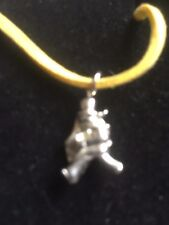 "Window Cleaner TG320A Made In Fine English Pewter On 18"" Yellow Cord Necklace"